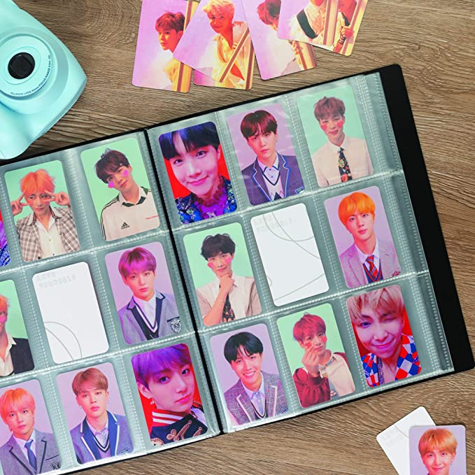 Samsill Polaroid Album for Instax Mini Photos and Kpop Photocards 288 Pockets with Customizable Front Cover and Spine Fits up to 2 Inch by 3 Inch Pictures