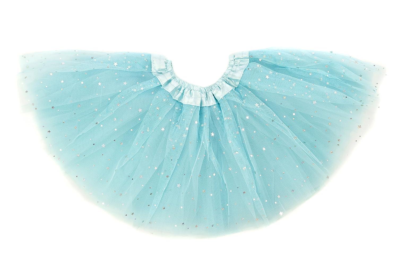 Dancina Tutu Baby Glittery Stars Sequin Ballet Dance Recital Skirt 6-24 Months Light Blue Glitter TUGL01LB12