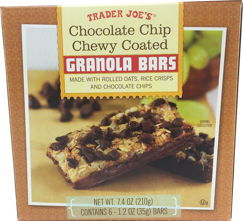 Trader Joe's Chocolate Chip Chewy Coated Granola Bars, 7.4 oz ...