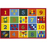 Children's Playtime Educational Numbers Rug - 'Numbers' - 080x120cms - Machine Washable