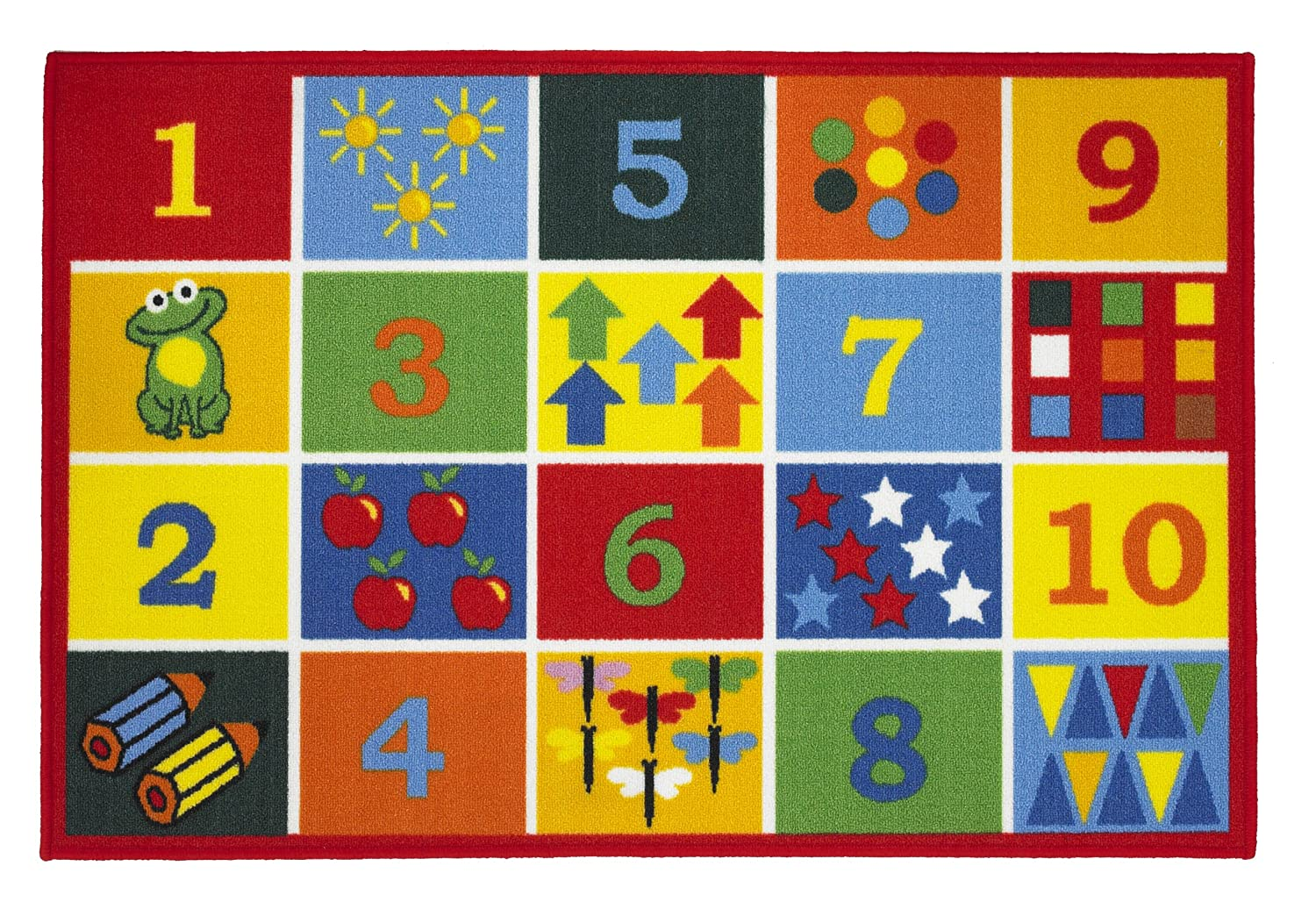 children u0027s playtime educational numbers rug u0027numbers