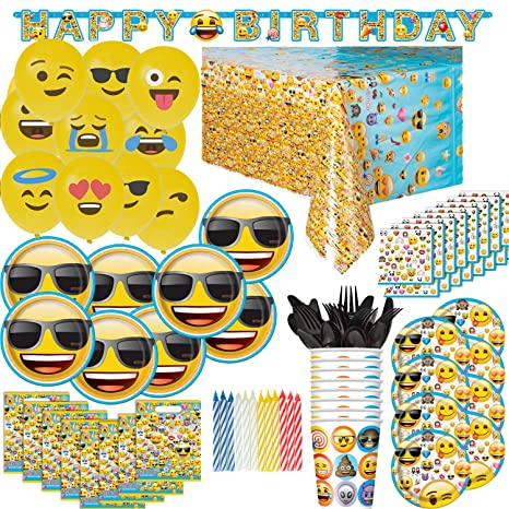 Image Unavailable Not Available For Color HeroFiber Emoji Birthday Party Supplies And Decorations