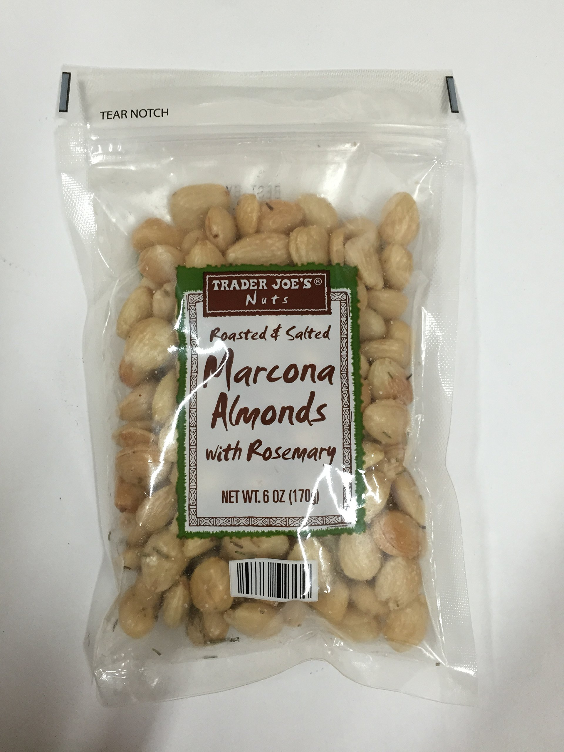 Trader Joe's Roasted & Salted Marcona Almonds with Rosemary - Pack of 12