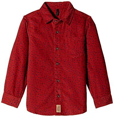 7f8ed87b United Colors of Benetton Boys' Shirt (15A53H45Q375I901_Chilli Pepper Red  and Print_M)