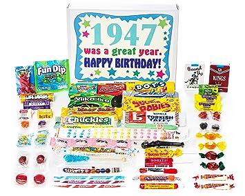 Amazon Com Woodstock Candy 1947 72nd Birthday Gift Box Of