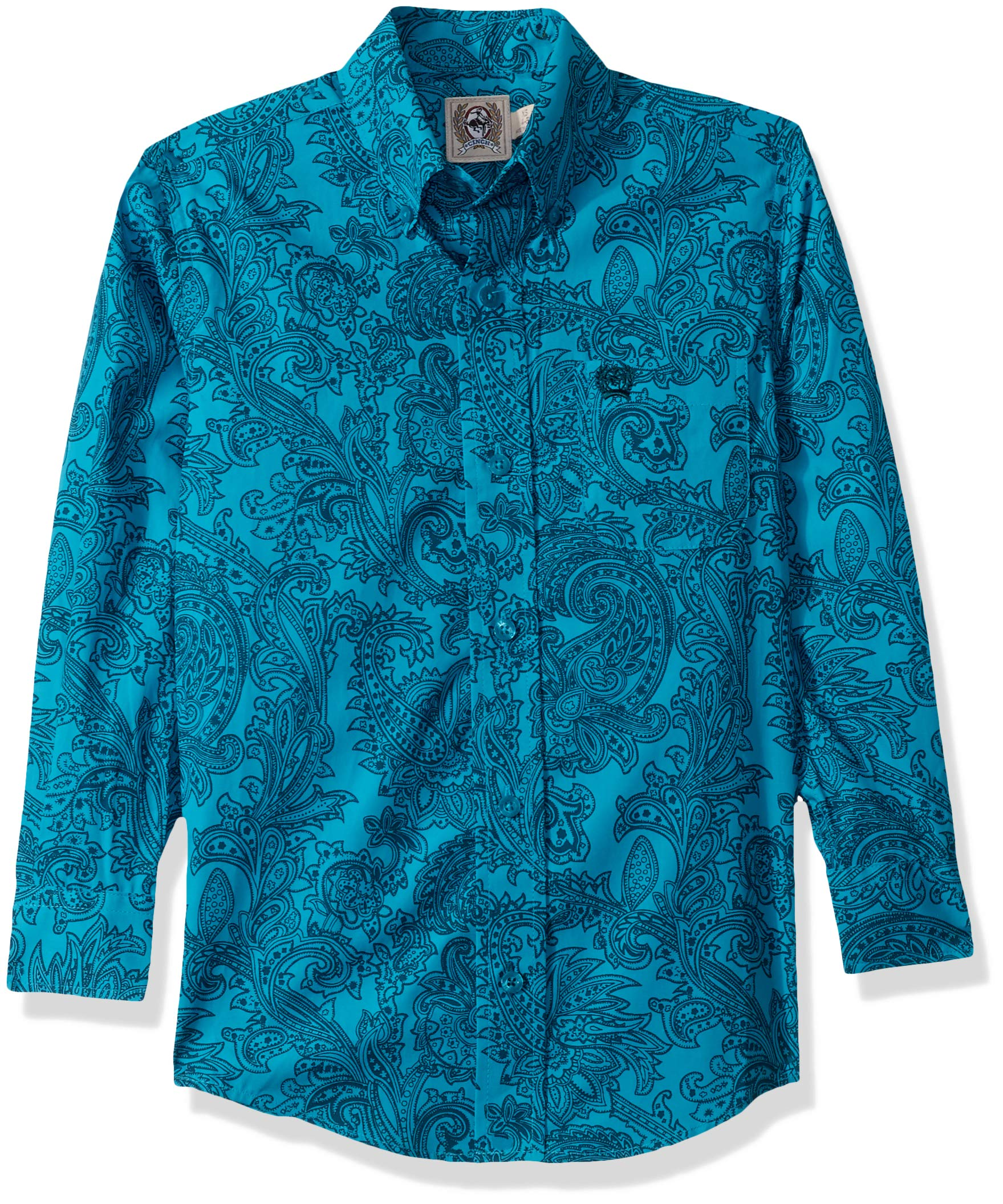 Cinch Boys Big Classic Fit Long Sleeve Button One Open Pocket Solid