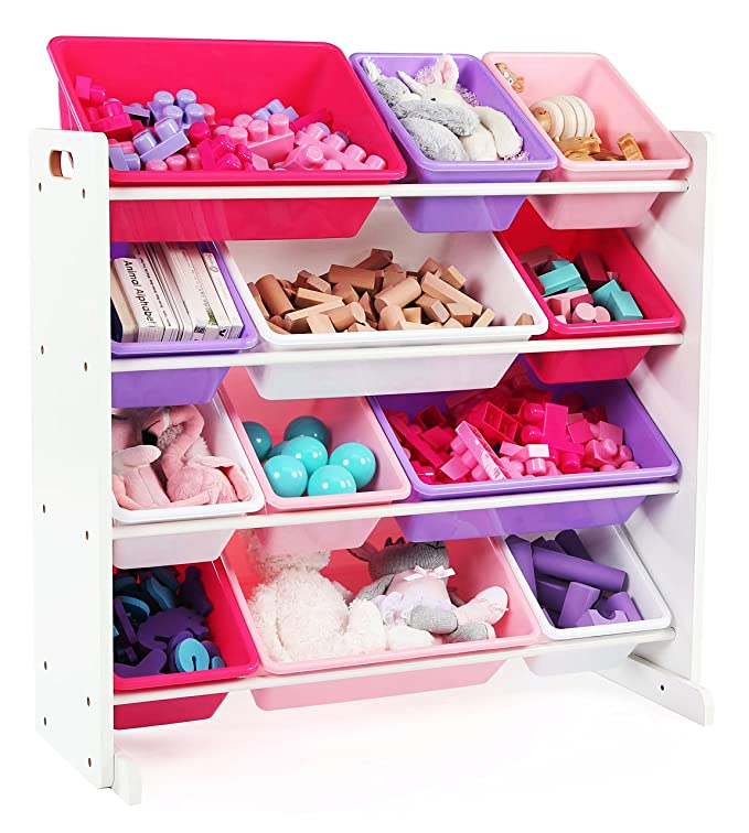 Amazon.com: Tot Tutors Kids\' Toy Storage Organizer with 12 Plastic ...