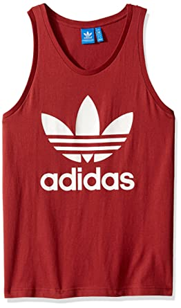 adidas Originals Trefoil Vest In Red BQ5349