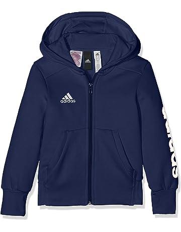 adbbe68d55f adidas Girls  Essentials Mid 3-streifen Full-zip Hoodie