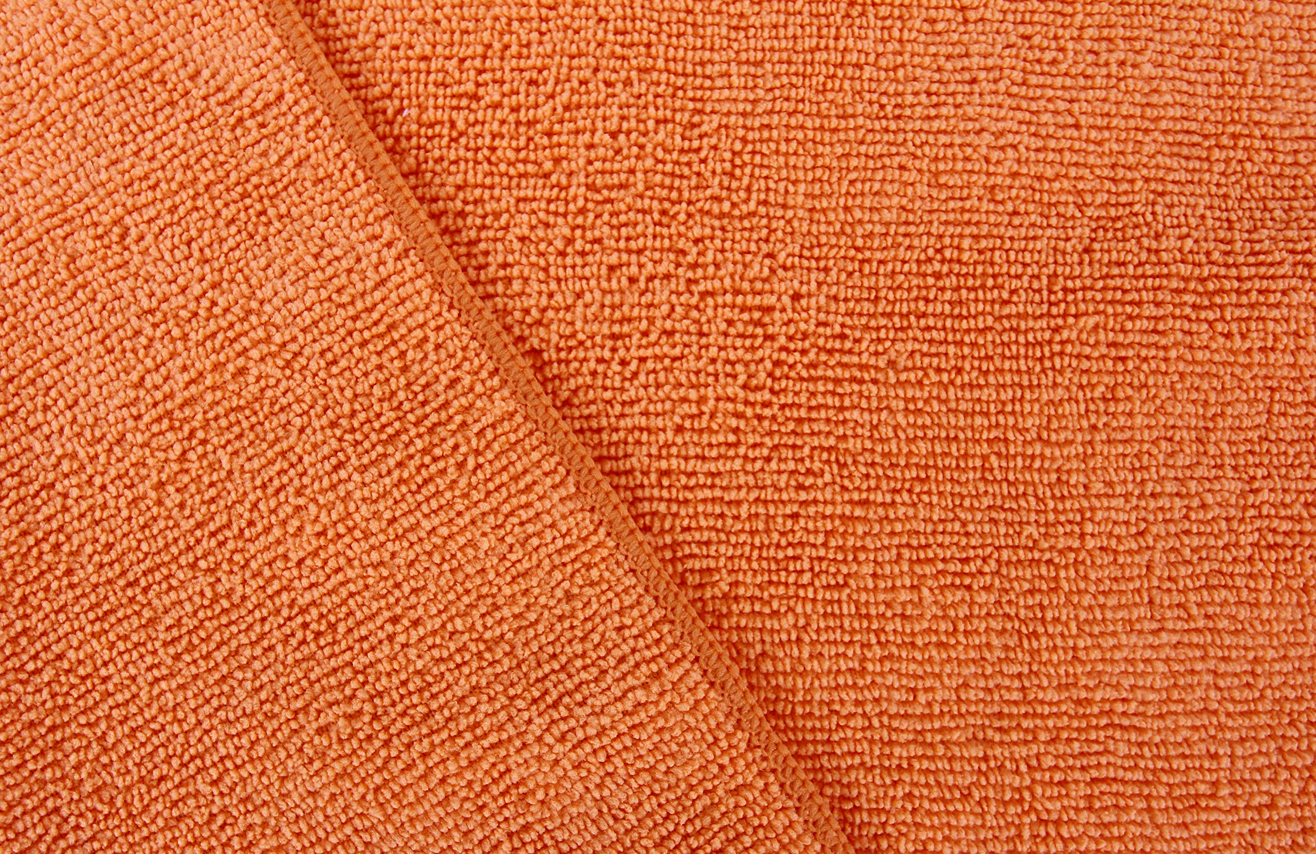 Dri Microfiber Cleaning Cloth Plus 16 x 16 inch (Commerical Grade, Extra Absorb, Cleaning Power and Dry Fast) (240, Orange) by DRI (Image #2)