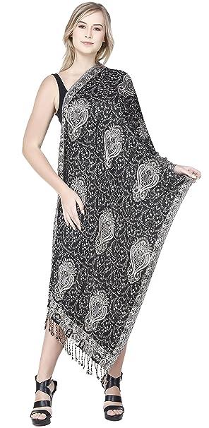 SKAVIJ Bufanda de Moda para Mujer Chal de Paisley Suave para Vestidos de Noche Abrigo Suave