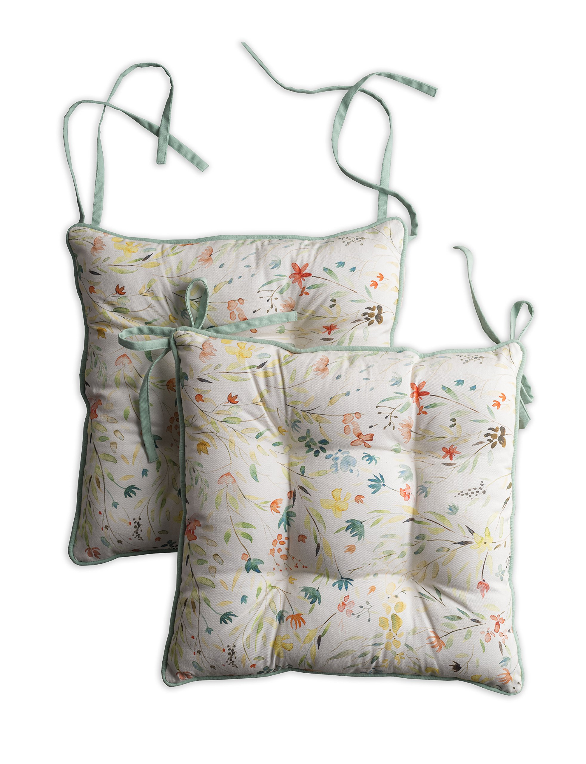 Maison d' Hermine Colmar Set of 2 Chair Pads 16 Inch by 16 Inch