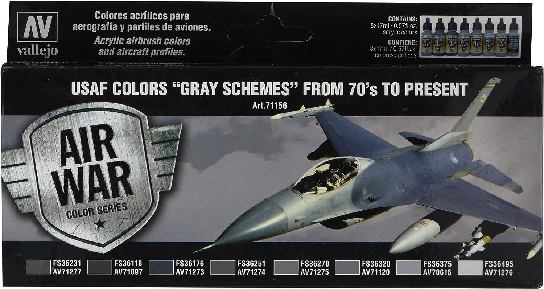Vallejo 71204 USAF Aircraft Colors Vietnam War Scheme SEA 8 Airbrush Paints