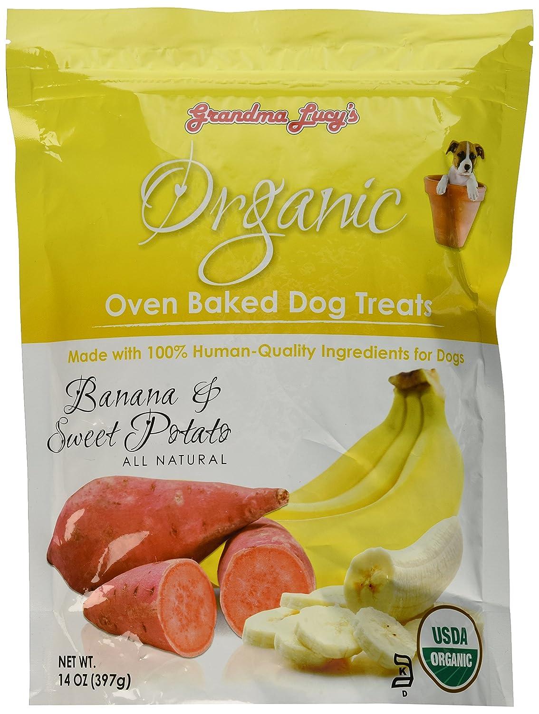 Grandma Lucy'S - Organic Baked Dog Treats - Banana & Sweet Potato - 14Oz