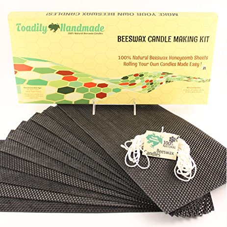Make Your Own Beeswax Candle Kit   Includes 10 Full Size 100% Beeswax  Honeycomb Sheets