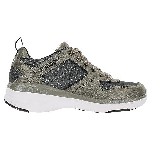 ef1bde4c0d Sneakers con Tacco Interno di 6 cm e Tomaia Metallizzata