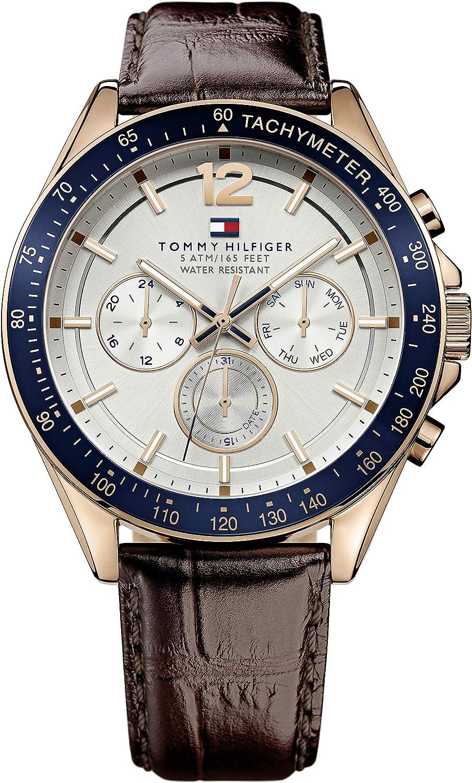 Reloj para hombre Tommy Hilfiger 1791118, mecanismo de cuarzo, diseño con varias esferas, correa de piel.