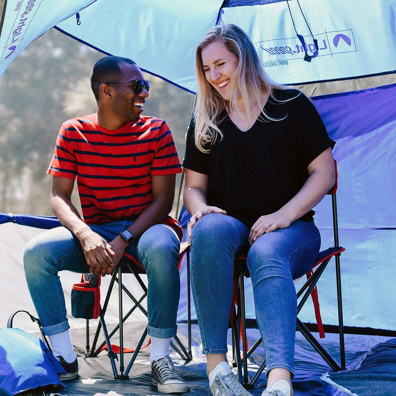 Lightspeed Outdoors Xtra Wide Nylon Ripstop Tripod Lightweight Folding Camping Sports Chair Orange