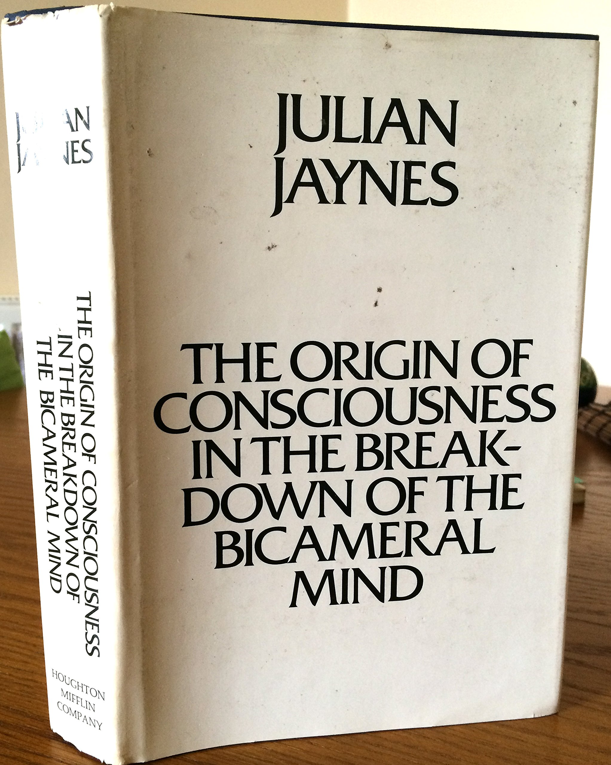 Origin of Consciousness in the Breakdown of the Bicameral Mind:  Amazon.co.uk: Jaynes, Julian: 9780395324400: Books