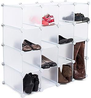Charmant Internetu0027s Best Plastic Shoe Storage Cube Organizer   16 Cubby    Interlocking Shoe U0026 Boot Rack