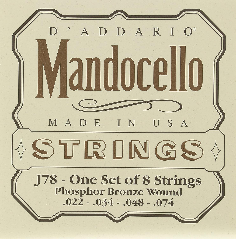 D'Addario J78 Phosphor Bronze Mandocello Strings, 22-74 D'Addario