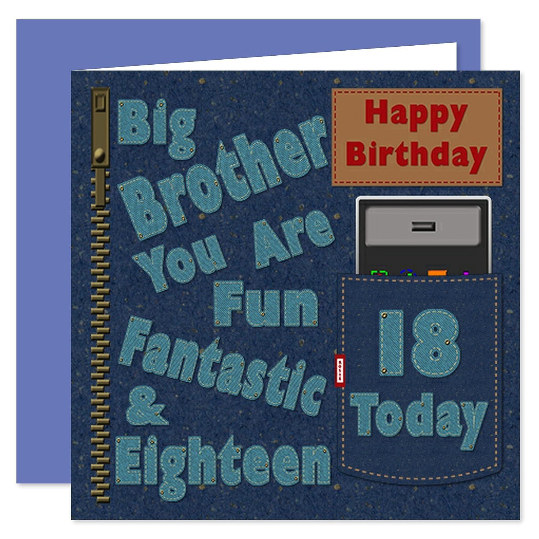Big Brother 18th Happy Birthday Card