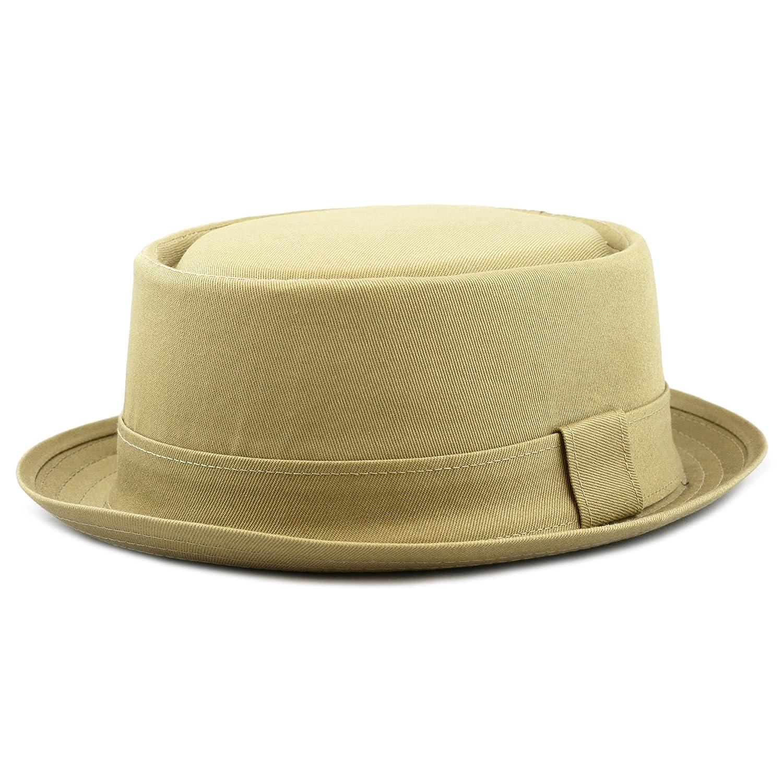 THE HAT DEPOT 1400f2091 100% Cotton Paisley Lining Premium Quality Porkpie Hat