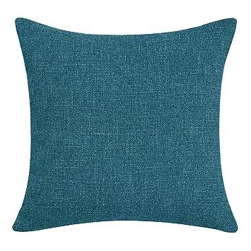 Amazon.com: Deconovo - Funda de cojín de lino sintético con ...
