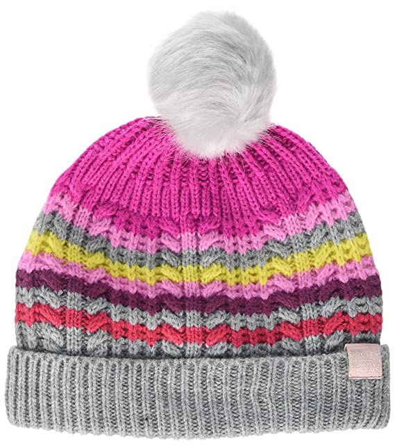 30e4f2de8f3 Joules Girl s Bobble Hat  Amazon.co.uk  Clothing