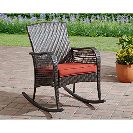 Superb Amazon Com Stylish Outdoor Patio Rocking Chair With All Machost Co Dining Chair Design Ideas Machostcouk