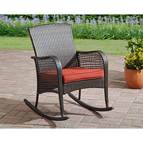 Amazoncom Stylish Outdoor Patio Rocking Chair With All Weather