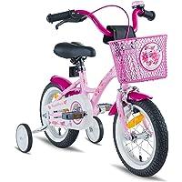 Prometheus vélo pour filles 12 pouces en rose et violet à partir de 3 ans avec stabilisateurs et rétropédalage - vélo enfant 12 pouces Classic Edition 2019