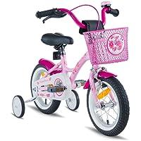 PROMETHEUS BICYCLES® 'Prometheus Enfant vélo 12pouces Fille en rose violet & blanc avec roulettes   Page freins et frein à rétropédalage–à partir de 3ans–12Classic Edition 2017
