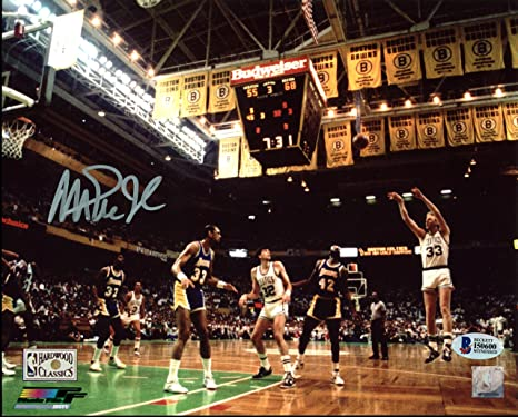 0a79ee3455e9 Image Unavailable. Image not available for. Color  Lakers Magic Johnson  Authentic Signed 8X10 1987 Finals Photo BAS Witnessed 5