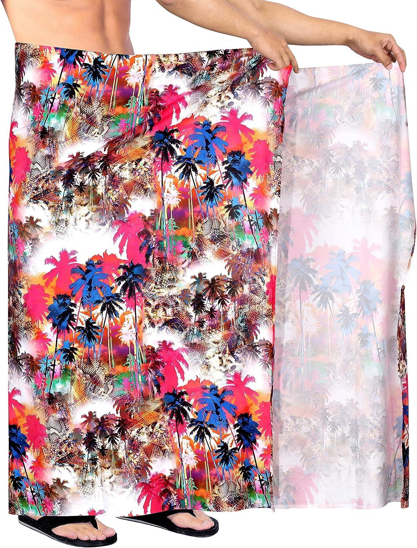 LA LEELA M/änner leicht Bademoden hawaiische Strand Sarong zu tragen