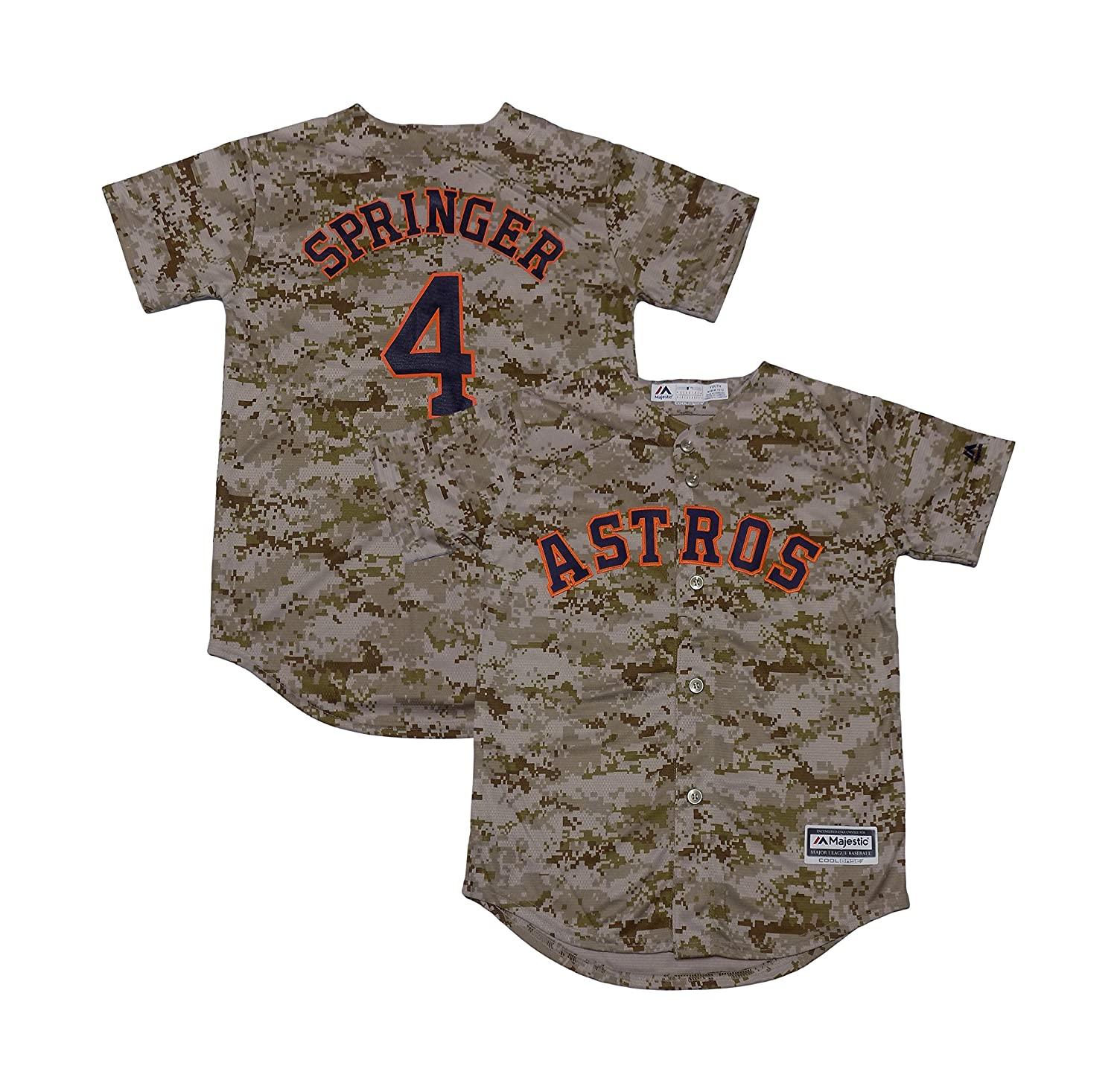 cheap for discount e40d7 d1cc1 George Springer Houston Astros Camo Youth Cool Base Fashion ...