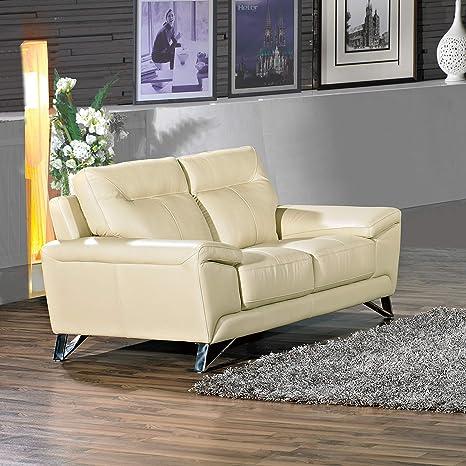 Amazon.com: Cortesi Home Phoenix auténtica sofás de piel ...