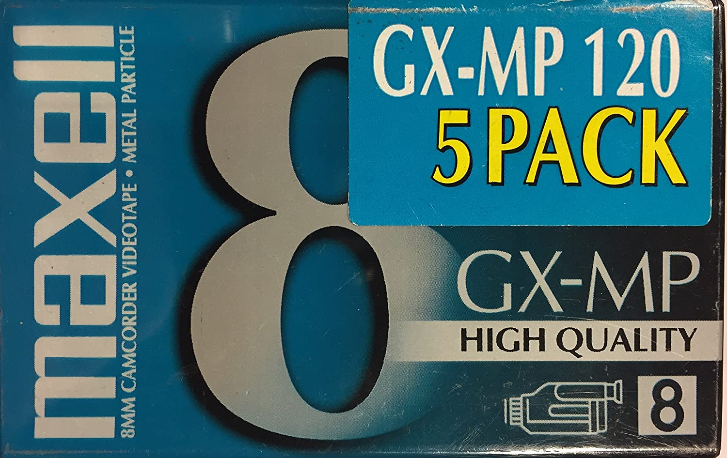 5-pack Maxell GX-MP 8mm 120 Minute Camcorder Videotapes