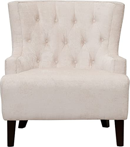 Iconic Home Hemingway Modern Tufted Taupe Velvet Accent Chair