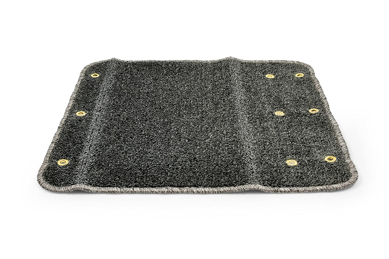 Turf Material Helps Trap Dirt and Debris 22 x 20 Trailer Step Rug Brown Camco RV Camper Premium Wrap Around Design 42938