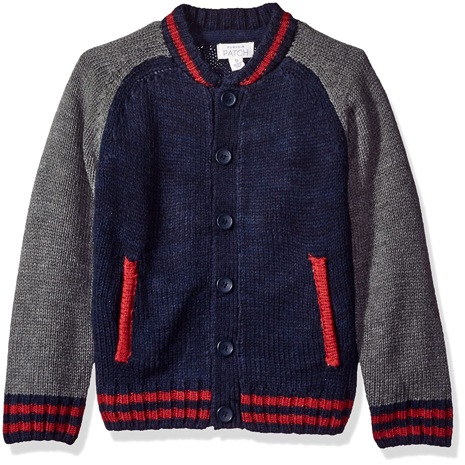 Pumpkin Patch Boys' Baseball Cardigan Insignia Blue 7 Pumpkin Patch Baby W6BY30007
