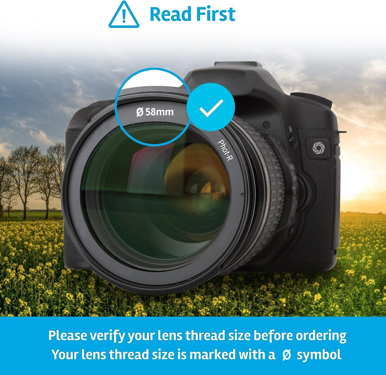 Phot-R 62mm Slim Variable ND Neutral Density ND2-ND400 Adjustable Fader Screw-In Camera Lens Filter