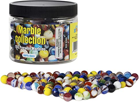 25 Marble Display for 12 Marbles  Pee Wees Up To 1116   Black Cherry    No