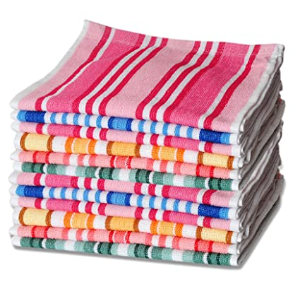 Sleepinns Stripe 100% Cotton Face Towel Set of 6 pc GSM 440 L W 30*30 CM-Multi
