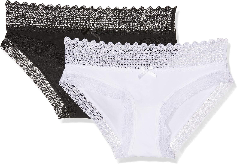 Dim Sexy Fashion Alg. Elástico Y Encaje Braguita (Pack de 2) para Mujer: Amazon.es: Ropa y accesorios