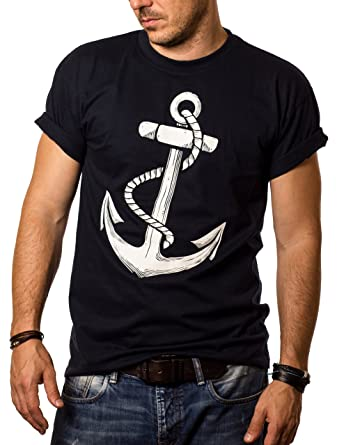 Herren T-Shirt mit Aufdruck ANKER Größe S