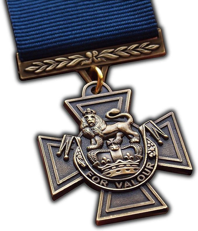 Trikoty Medalla de Cruz Victoria británico más Alta UK Premio Repro de la Royal Navy Naval Personal Premio para Conspicuous valentía a   ejército   Azul Marino   RAF   RM  