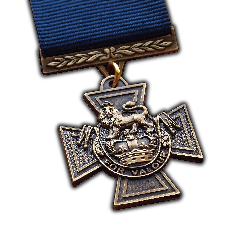 Victoria Cruz Medalla de British alta UK Premio Repro Naval de la Royal Navy Personal Premio para notorio valentía a | Ejército | Azul Marino | RAF | RM | SBS | para reproducción de alta calidad Trikoty