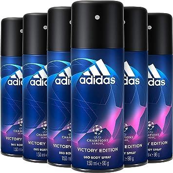 Adidas Uefa Champions League Victory Edition Desodorante Spray Para Hombre 150 ml - Pack de 6: Amazon.es: Belleza