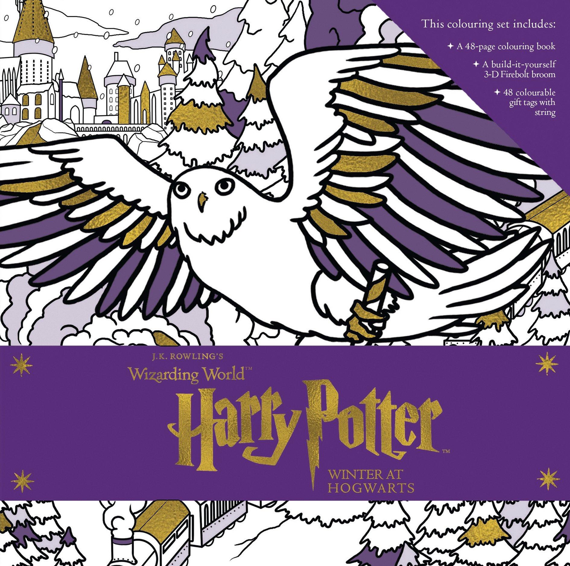 Harry Potter. Winter At Hogwarts. Colouring Set J.K. ...